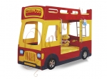 Двухъярусная кровать-машина Milli Bus