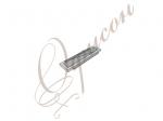 Соединительный элемент для брифов хром/стекло XE-28