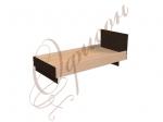 Кровать односпальная с изголовьем, настил МДФ Т411