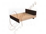 Кровать двуспальная с изголовьем, настил МДФ Т415