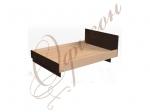 Кровать двуспальная с изголовьем, настил МДФ Т413