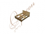 Кровать двуспальная с проемом под ортопедическое основание N001